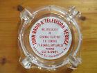 vtg Catasauqua PA Town Radio Television appliance Repair Advertising Ashtray 50s photo