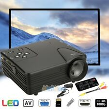 1080P HD Home Multimedia Cinema Theater Mini LED Projector USB AV TV VGA HDMI