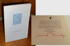 Signed Limited Edition ~ Mr. Evening by James Purdy, Black Sparrow, 1968, Wraps