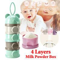 IE 4 Layer Portable Infant Baby Milk Powder Formula Dispenser Container Pot Box