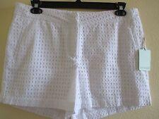 NWT - Dept 222 ladies pretty White Shorts w/cut-outs - sz 14P - MSRP $48.00
