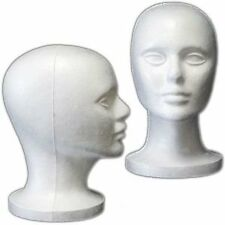 (6 Pack) Styrofoam Model Heads  by 3rd Power Outlet- Hat Wig Foam Mannequin