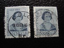 NORVEGE - timbre yvert et tellier n° 451 x2 obl (A30) stamp norway