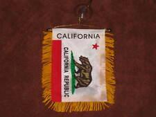 "CALIFORNIA FLAG MINI BANNER 4""x6"" CAR WINDOW MIRROR NEW"