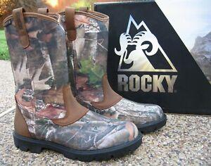 New Mens Rocky Ridge Stalker Realtree CAMOUFLAGE Waterproof Hunting Boot RKS0514