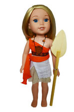"14.5"" Doll Clothes Polynesian Princess Costume for 14"" Doll Tribal Princess Set"