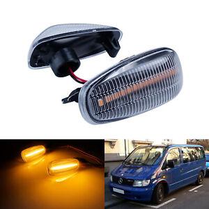 2x Pour Mercedes Sprinter 901 S210 W638 W414 LED Clignotants Latéraux Répétiteur