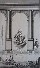 Charpentier (sculp .) : Portique ionique avec son piedestal. Gravure 18 ème