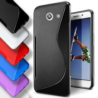 Huawei Ascend Y 550 Silicone Gel S Line Case Cover Ultra Thin Slim Back Bumper