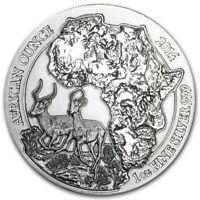 Bullion coin 50 Francs Rwanda 2014 1 oz argent BU 999 ‰ – Impala