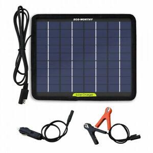 Eco-Worthy Chargeur de batterie solaire portable 12 V 5 W