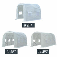 Portable PE Walk-in Greenhouse Garden Outdoor Plant Shed Tunnel Growing House