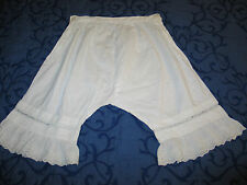 Antique Victorian Edwardian Pantaloons~Bloomers~Hand Made Broiderie Anglais Lace