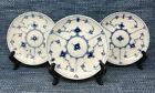 3 Lot Royal Copenhagen Saucers 75-78 Blue Fluted Plain 1st Quality Excellent