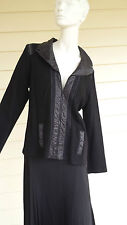 Pause Cafe Black Jacket French Designer Size 46 Brand new with tags
