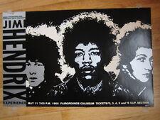 Jimi Hendrix 1968 Fairgrounds Coliseum reissue poster