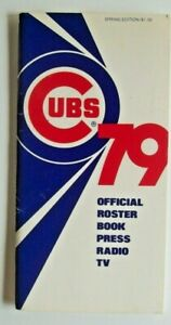 1979 Chicago Cubs Official Press & Media Roster Book/Guide