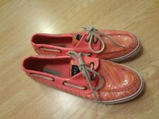Women's Sperry Top-Sider Sz 7 1/2 Pink Shoes Sequin