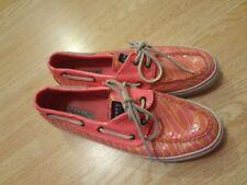 Women's Sperry Top-Sider Sz 7 1/2 Pink Shoes Sequin