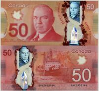CANADA 50 DOLLARS 2012 / 2015 P 109 WILKINS & POLOZ POLYMER UNC