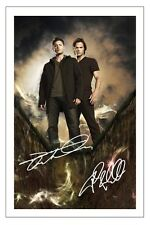 JENSEN ACKLES & JARED PADALECKI SUPERNATURAL SIGNED PHOTO PRINT AUTOGRAPH