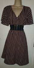 WOMENS FABULOUS NEW CASUAL SEXY SPRING WRAP SKATER DRESS: UK SIZE 16 (44)