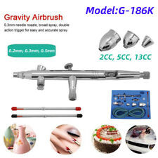 Spray Airbrush Kit for Painting on Car Model Wall Make-up Cake 0.2mm-0.5mm