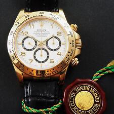 Rolex DAYTONA EL PRIMERO 18ct GIALLO 16518 con goldfaltschl. e certificato