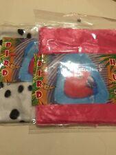 2 Mix Bird Pink Fur MEDIUM Hanging Hut Happy Tent Plush Parrot Toy Bunk Bed