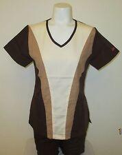 Reina scrub set - 1371 -Women, XXS Petite, 65%Microfiber 35%Rayon, Cocoa