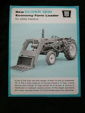 Original 1966 Brochure For The Oliver 1210 Economy Farm Loader For Tractors