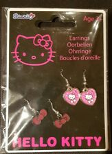 Hello Kitty Earrings Set of 2 Pairs Brand New Sealed