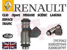 Petrol Fuel Injector IWP042 Renault Clio SPORT 172/182 Megane Scenic 1.8/2.0 16V