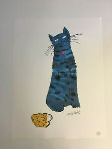 Andy Warhol - Blue Cat and Perfume Bottle - 1989 - Offset Poster