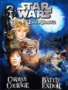 EWOKS STAR WARS: EWOK ADVENTURES CARAVAN OF COURAGE & BATTLE FOR ENDOR (DVD) NEW