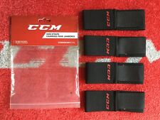 CCM Reebok JOFA Black Adjustable Hockey Shin Strap 4-pcs