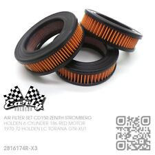 TRIPLE CD150 STROMBERG CARBIE AIR FILTER SET [HOLDEN LC GTR-XU1 TORANA] NOS
