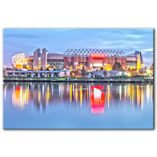 Old Trafford Manchester United | Canvas Print Wall Art Photo Picture | 5 Sizes