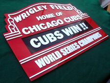 CUBS 3D art sign man cave WRIGLEY baseball HOF WORLD SERIES champs CHICAGO