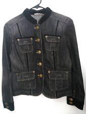 Women's Size XS DKNY Jeans Off-Black 4 Pockets Denim Button Up Jean Jacket