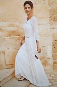 BNWT Kaleidoscope Beaded  Wedding Long Dress Ivory Size UK 12