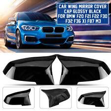 Schwarz Glänzend Spiegelkappen Außenspiegel Für BMW F20 F21 F22 F30 F32 F36 X1