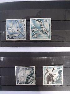 LOT DE 4 TIMBRES MONACO 1955 OISEAUX DE MER N°55 A 58 NEUFS AVEC CHARNIERES