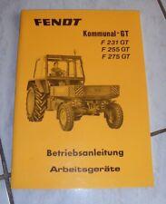 Fendt Kommunal- GT F 231 / 255 / 275 GT Arbeitsgeräte, orig. BA 1977