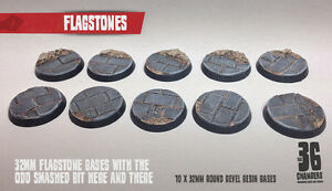 Flagstones - 10 x 32mm resin scenic bases