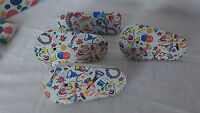Vintage Tin Noise Makers New Years U.S. Toy Mgr Tin  Litho toy clowns
