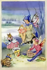 Fairy Picnic~counted cross stitch pattern #1404~Fairies Fantasy Graph Chart
