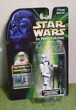 STAR WARS CARDED POWER OF THE FORCE GREEN CARD COMM TECH STORMTROOPER