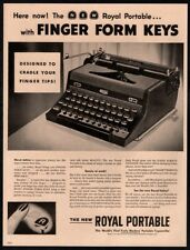 1948 ROYAL Portable Typewriter - Finger Form Keys - Office - Original VINTAGE AD