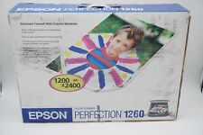 New EPSON Perfection 1260 Photo Scanner w/ 35mm Slide Film Adapters NOS